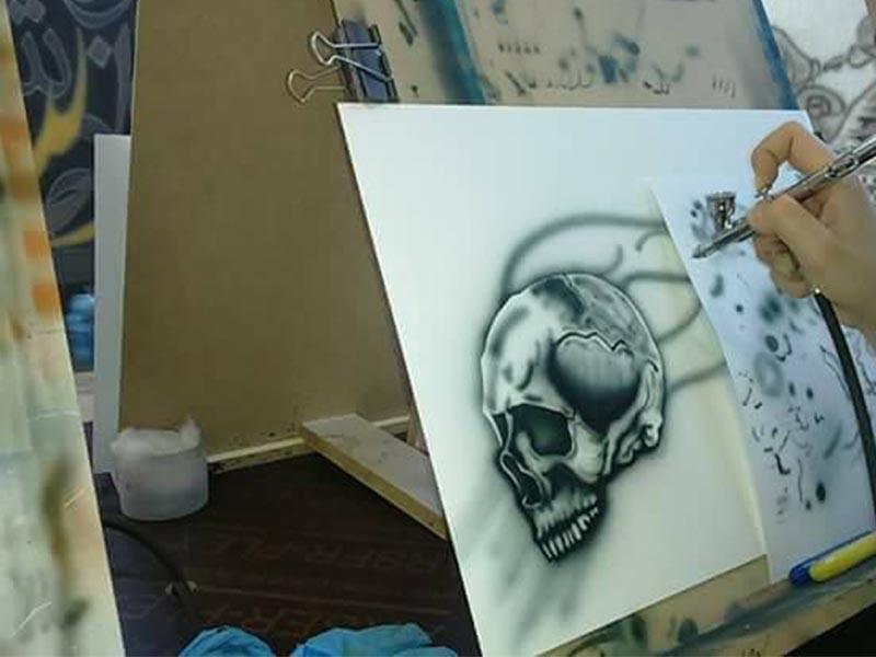 الاردنية لفن الرسم بالرش